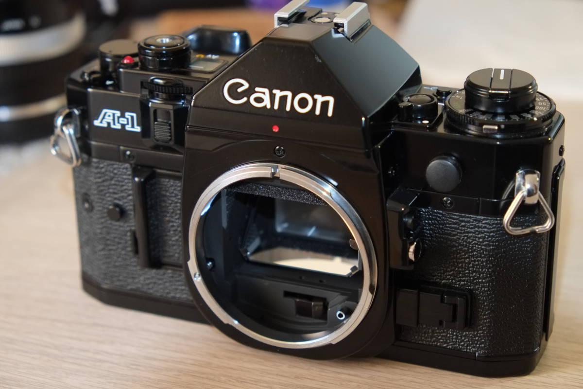 動作品 Canon フィルム一眼レフ A-1 モータードライブMA レンズ3本