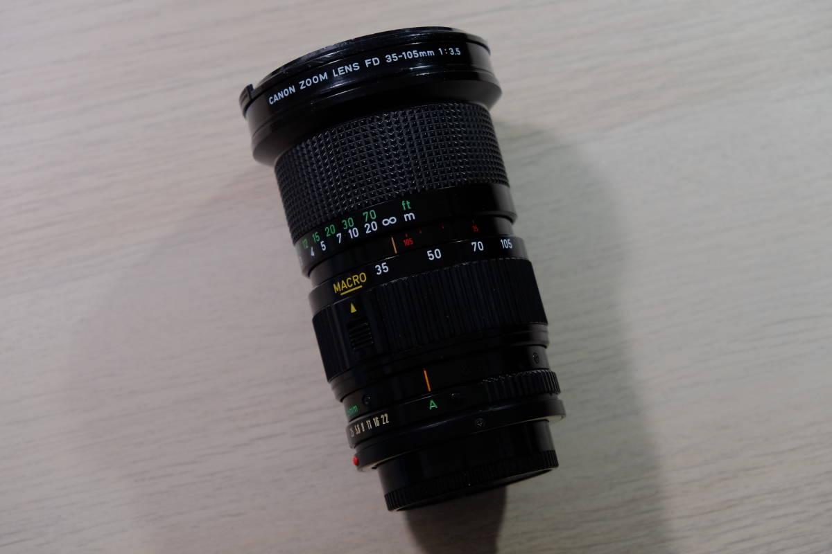 動作品 Canon フィルム一眼レフ A-1 モータードライブMA レンズ3本_画像6