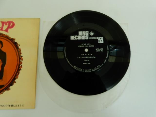 【2597】 TULIP チューリップ 柱時計が10時半 NDS-103 自主制作盤 EP レコード_画像5
