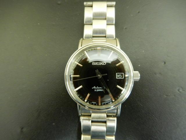 【2803】 セイコー メカニカル 6R15-00V0 自動巻 裏スケルトン 中古時計