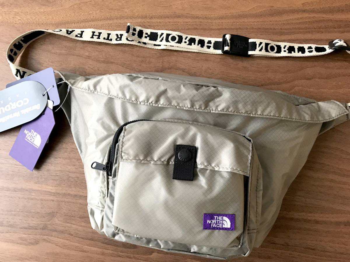 38241c012 完売★ The North Face Purple Label / Lightweight Logo Tape Waist Bag / BEIGE /  ノースフェイス パープルレーベル ウエスト ...