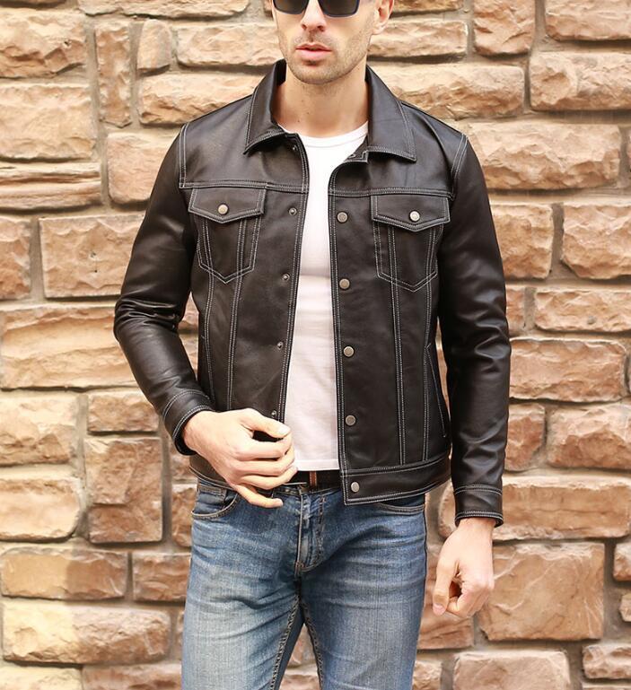 限量発表★上層羊革レザージャケット本革ライダースラムスキン 細身メンズレザーコート パイクウェア 高品質革ジャン55S358サイズ選択可