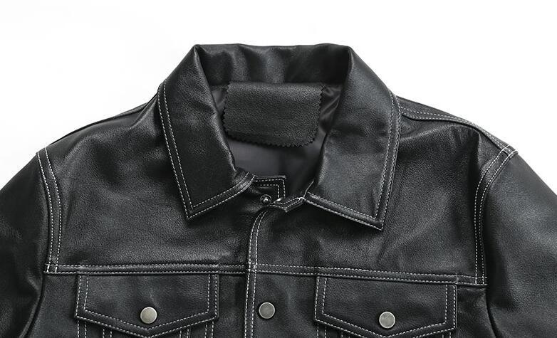 限量発表★上層羊革レザージャケット本革ライダースラムスキン 細身メンズレザーコート パイクウェア 高品質革ジャン55S358サイズ選択可_画像6