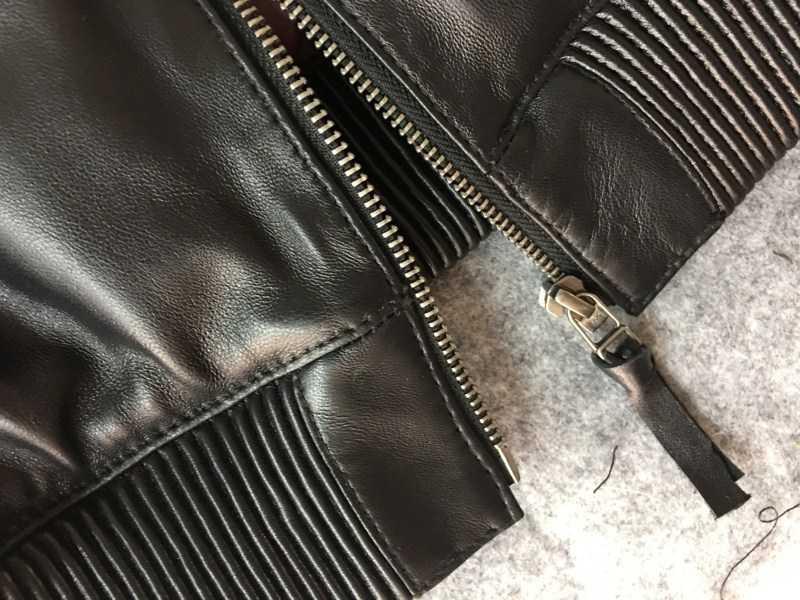 新品超人気★2色/サイズ選択可★ベースボールジャケット羊革ライダースシープスキン本革レザージャケット シンプル72S435_画像6