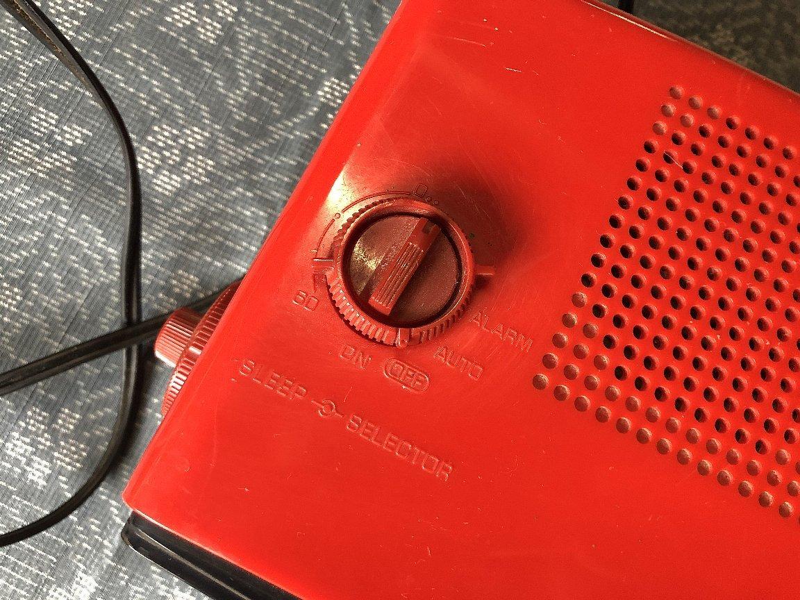 パタパタ時計AM&FMラジオ付き ナショナルパナソニック製▼昭和レトロ置時計稼働品_画像3