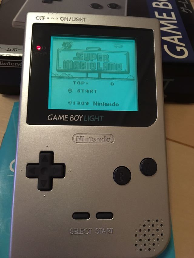 【送料無料】Nintendo ゲームボーイライト Gameboy light MGH-101 シルバー 箱取説付き 程度良し_画像3