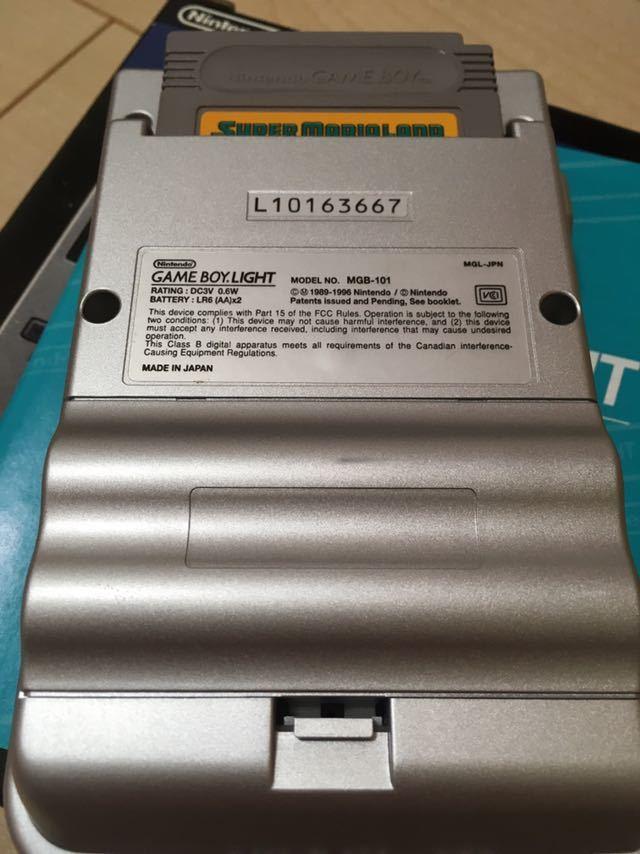 【送料無料】Nintendo ゲームボーイライト Gameboy light MGH-101 シルバー 箱取説付き 程度良し_画像4