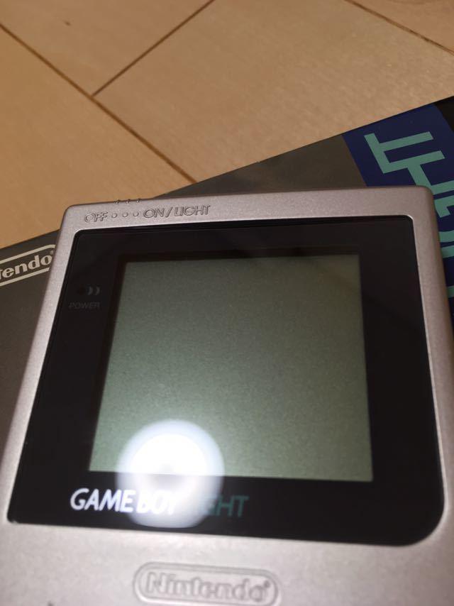 【送料無料】Nintendo ゲームボーイライト Gameboy light MGH-101 シルバー 箱取説付き 程度良し_画像2