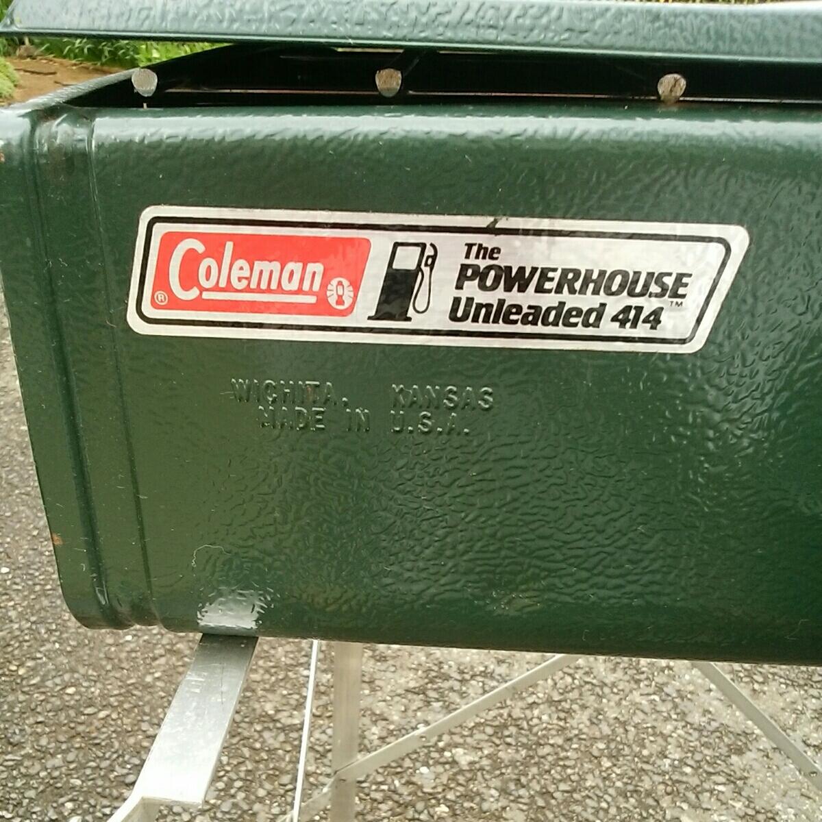 コールマン Coleman ツーバーナー アンリーデッド 災害 防災 キャンプ バーベキュー アウトドア 414-700J スタンド付_画像9