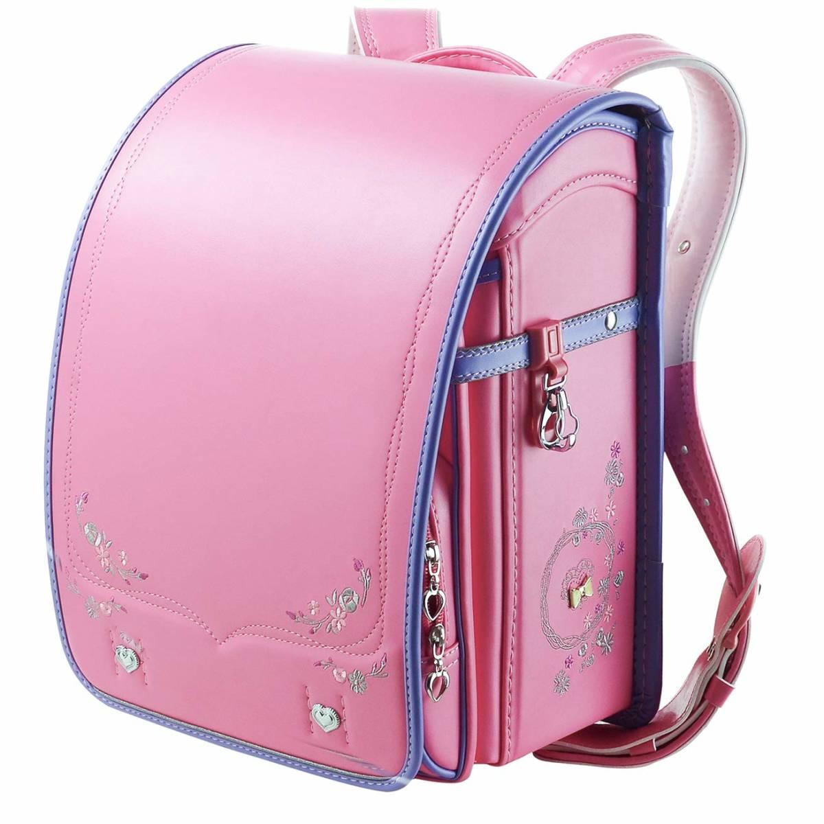 ランドセル プリンセス A4フラットファイル対応 刺繍 可愛い ピンク