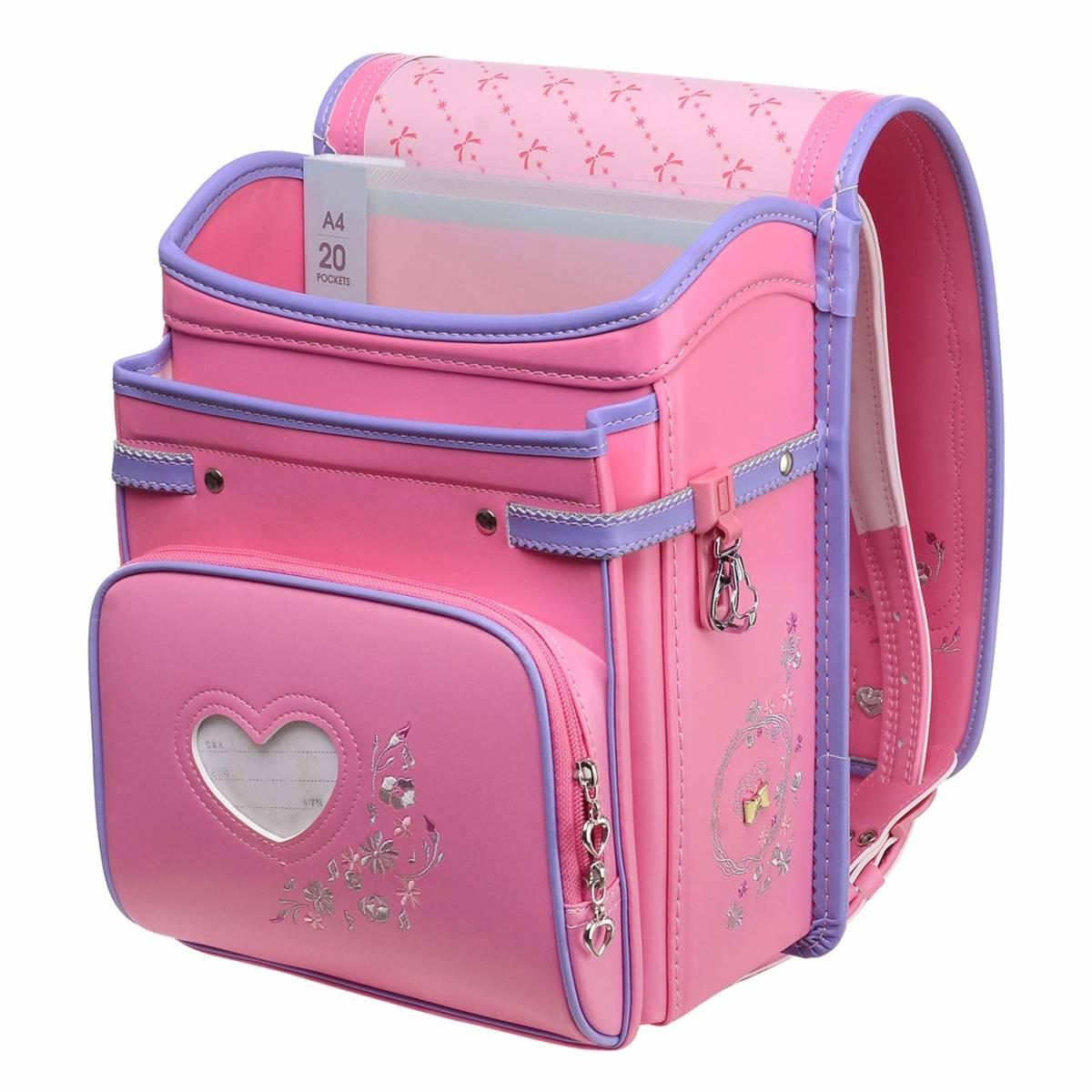 ランドセル プリンセス A4フラットファイル対応 刺繍 可愛い ピンク_画像2