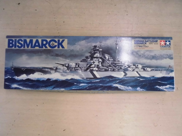 TAMIYA 1/350 BISMARCK ドイツ 戦艦ビスマルク プラモデル 未組立て