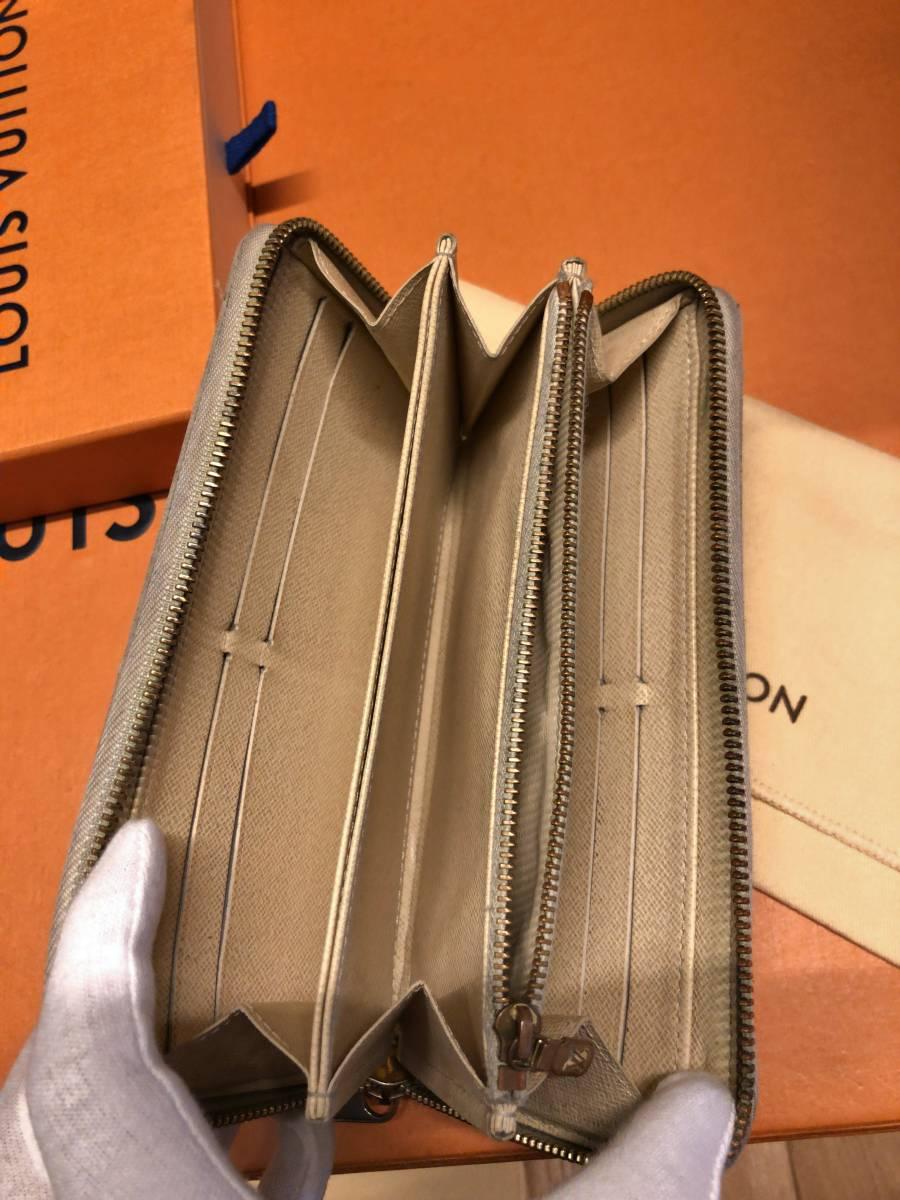 【付属品有り!】ルイヴィトンダミエアズール長財布!ジッピーウォレット!一番人気!_画像6