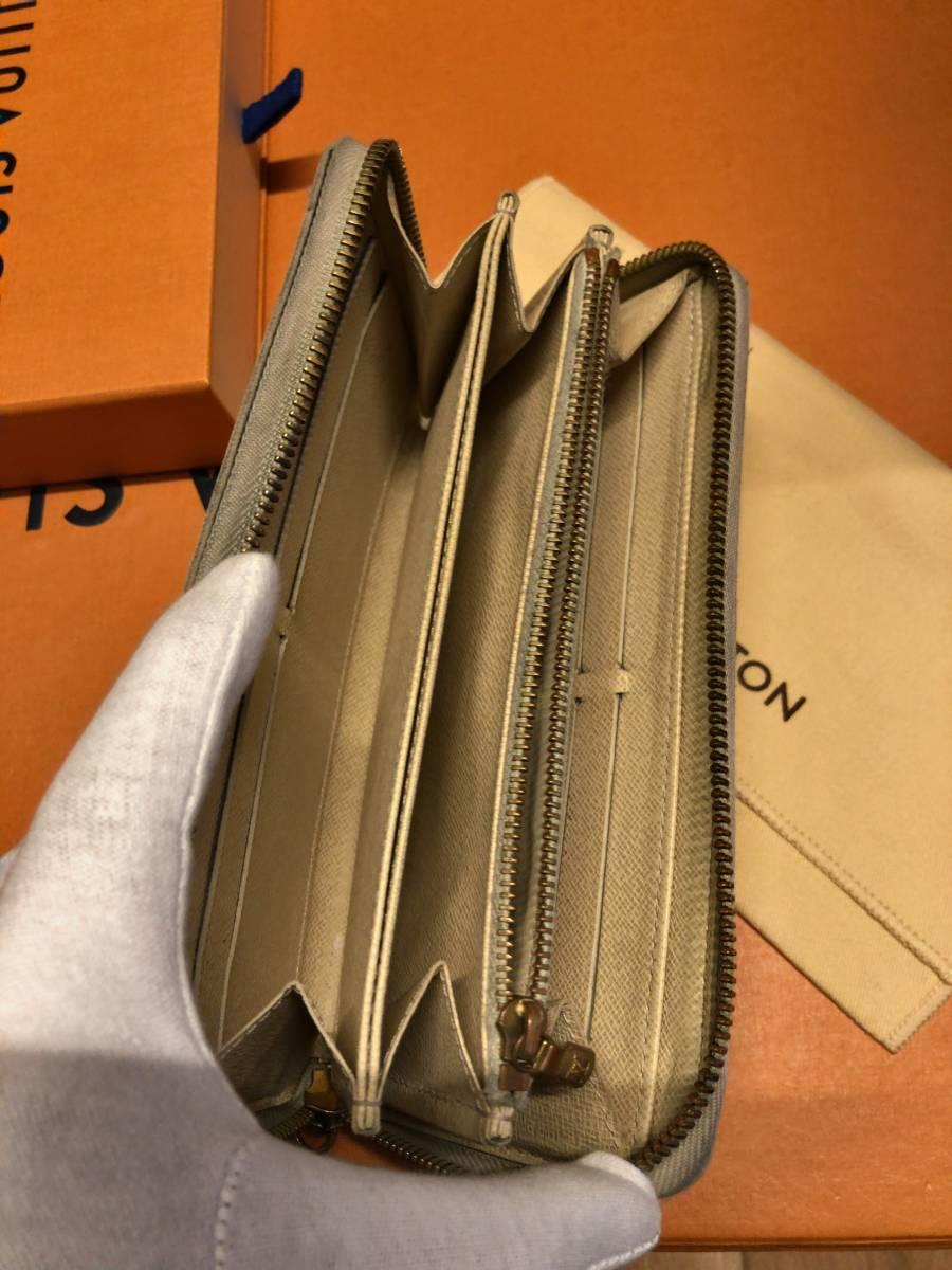 【付属品有り!】ルイヴィトンダミエアズール長財布!ジッピーウォレット!一番人気!_画像8
