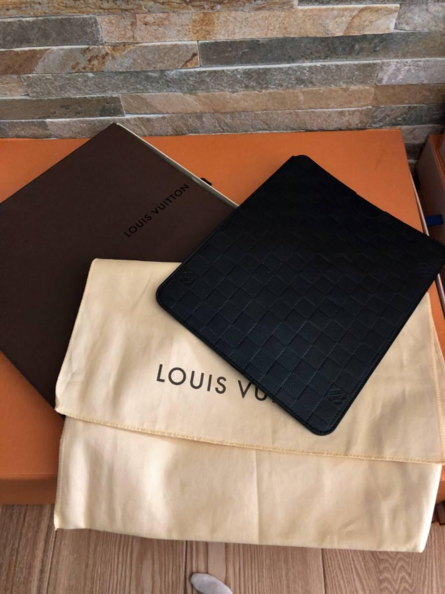 【極上極美!付属品フルセット!】ルイヴィトンダミエアンフィニ!iPadケース大♪