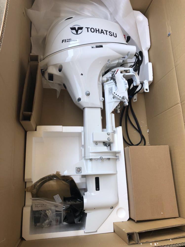 トーハツ 4ストローク20馬力 MFS20EEFL(最新モデル、インジェクション) トランサムL H31年製造 新品未使用、希少ホワイトモデル_画像1
