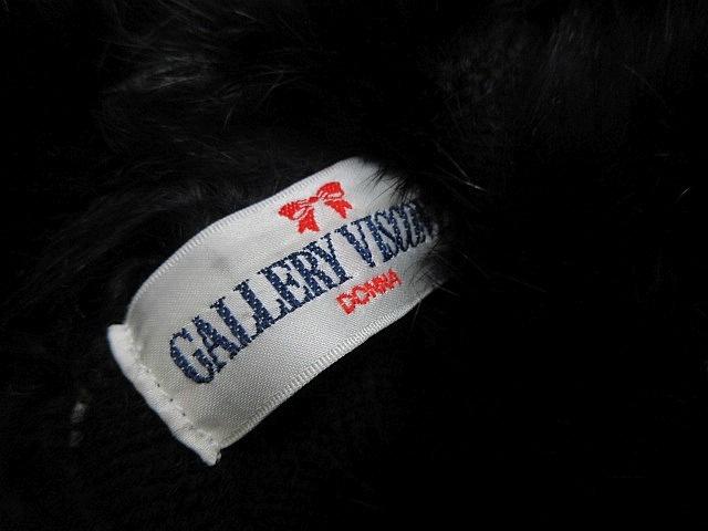 ギャラリービスコンティ GALLERY VISCONTI 長袖 タートルネック ニットセーター ラビットファー付き 黒 ブラック Mサイズ2■L21513AWS19-50_画像4
