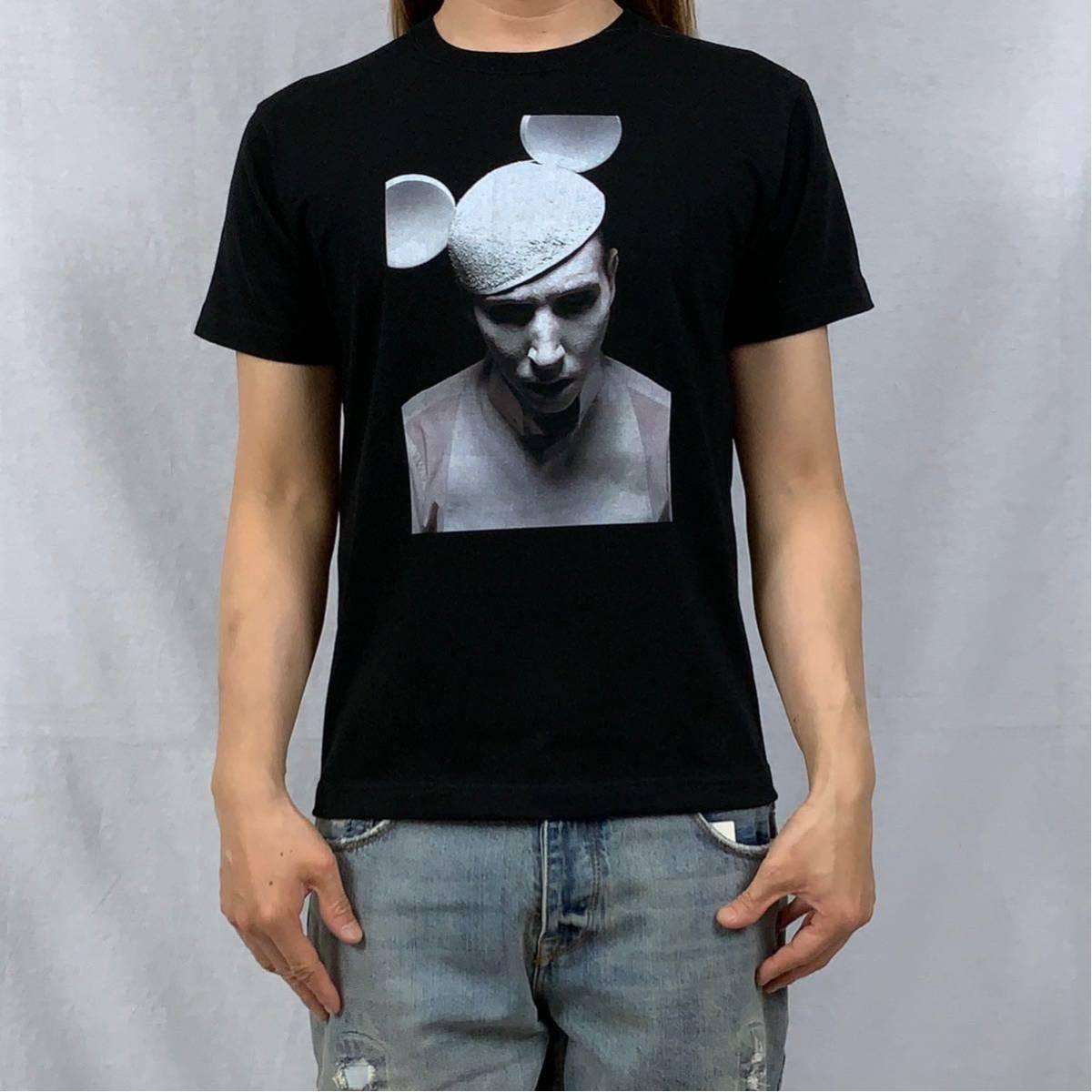 新品 マリリンマンソン ミッキー 耳 帽子 ゴシック ロック バンド 黒 Tシャツ S M L XL ビッグ オーバー サイズ XXL~5XL ロンT パーカー 可