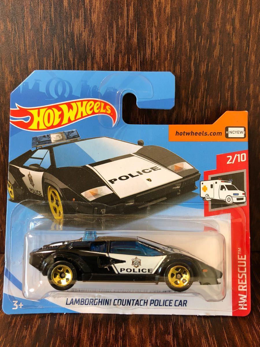 代購代標第一品牌 樂淘letao Hw Lamborghini Countach Police Car