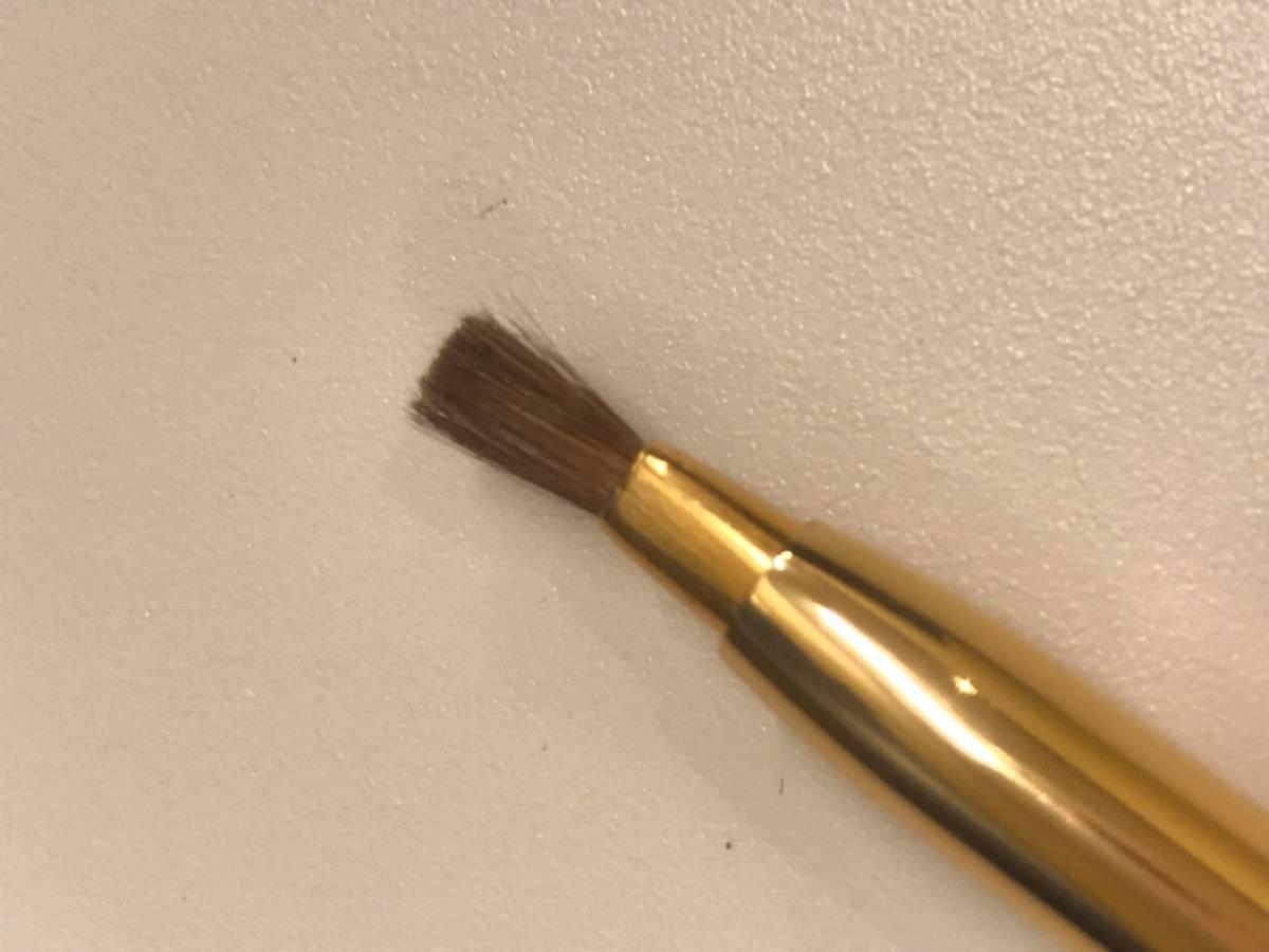 #278 ミキモト MIKIMOTO パール付きリップブラシとミラーのセット 鏡と紅筆 未使用保管品_画像4