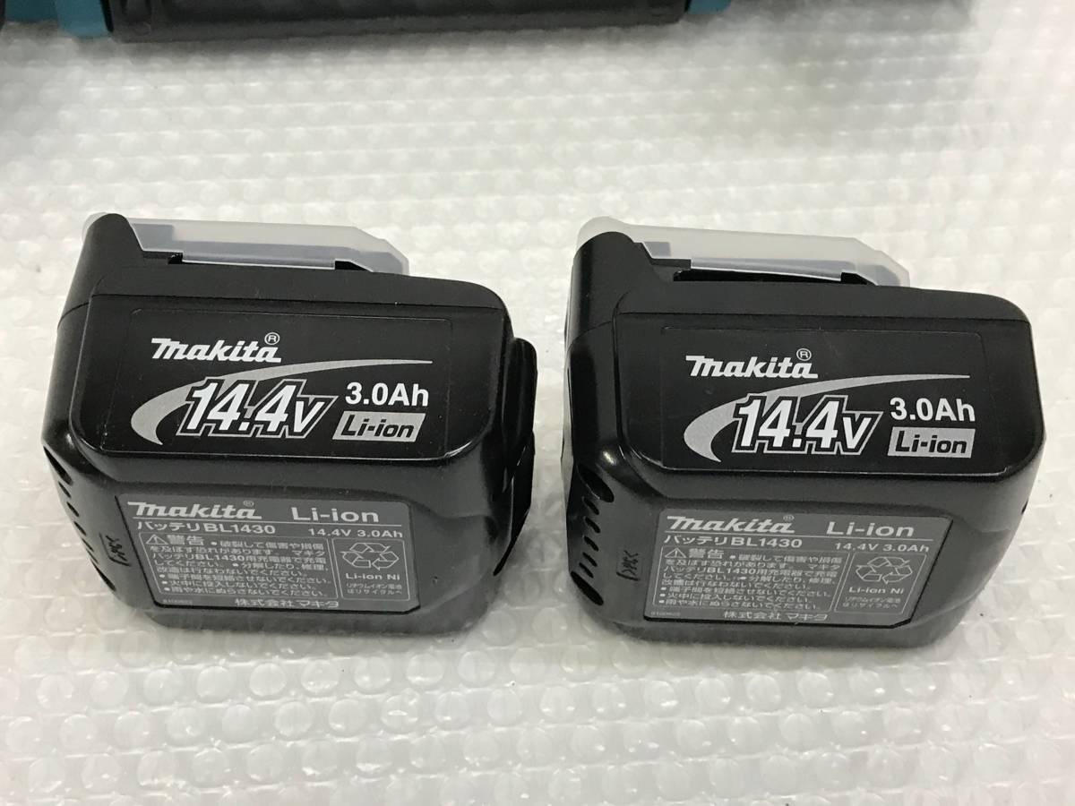 【未使用品】電動工具 makita マキタ 14.4V バッテリーパック2個 リチウムイオンバッテリー 充電器 セット B_画像2