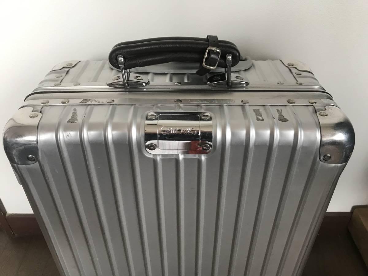 [希少] RIMOWA CLASSIC FLIGHT リモワ クラシックフライト 35L/2輪 検索用 機内持ち込み 青ロゴ スーツケース off white [廃盤]_画像4
