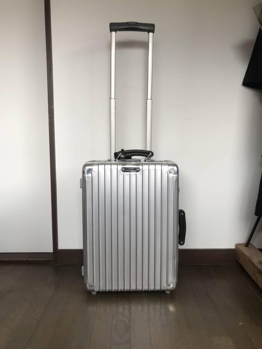 [希少] RIMOWA CLASSIC FLIGHT リモワ クラシックフライト 35L/2輪 検索用 機内持ち込み 青ロゴ スーツケース off white [廃盤]_画像2