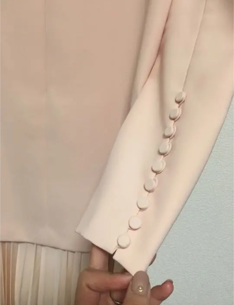 新品タグ付 ADEAM アディアム ワンピース ピンク プリーツ 25ans掲載 結婚式 サイズ2_画像2