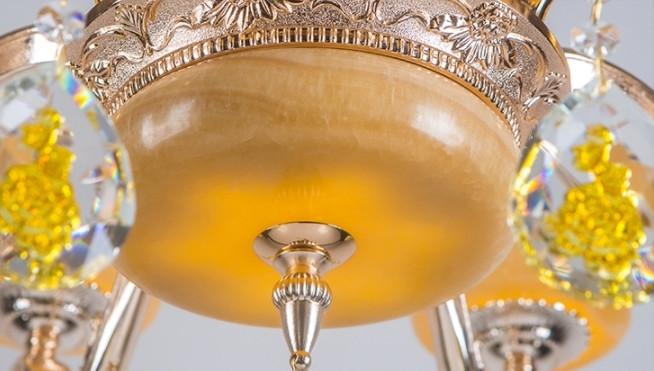 豪華 欧米スタイル 家庭用6灯シャンデリア 天然黄玉/亜鉛合金 典雅感溢れる吊ランプ 錆びにくい  照射面積15㎡ -35㎡ wd383 _画像2
