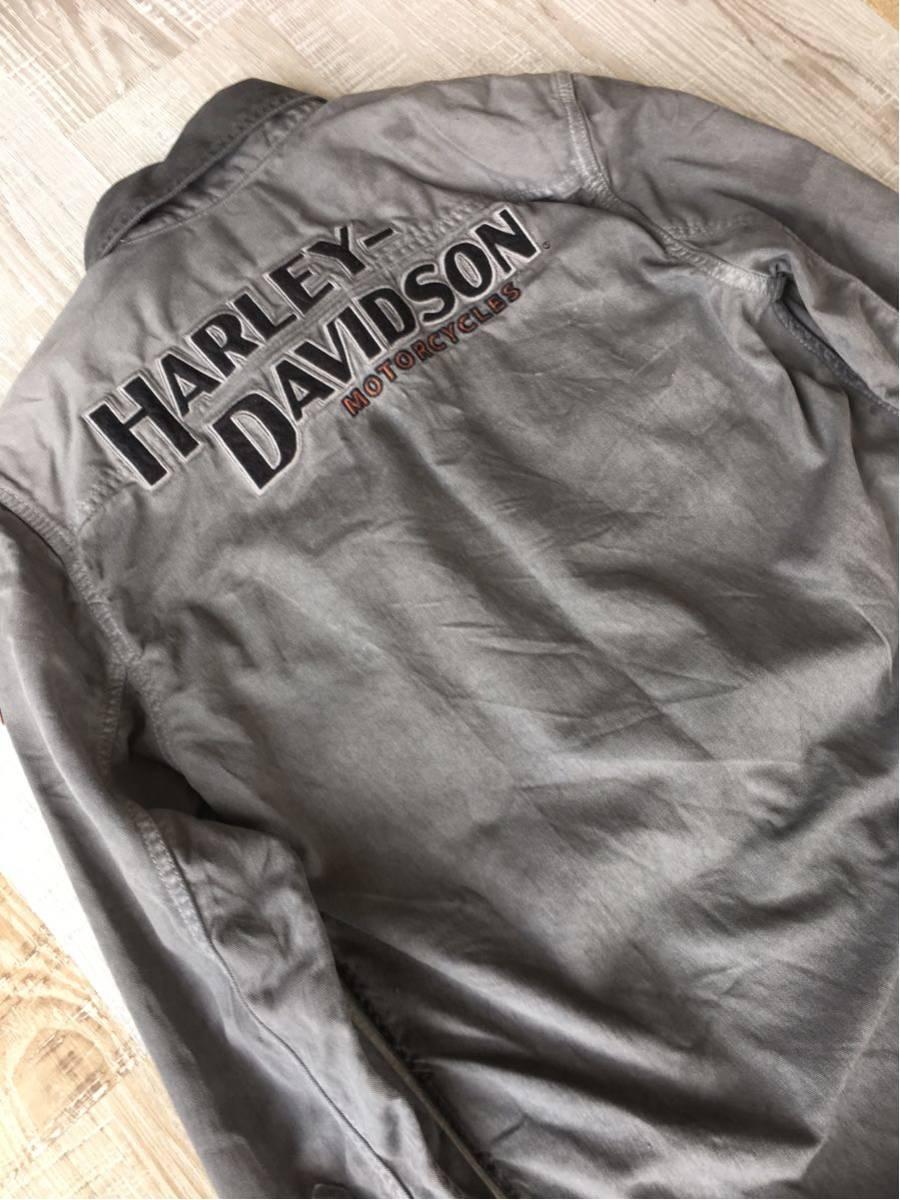 スリムフィトS 日本向け商品 ハーレー ダビッドソン HARLEY-DAVIDSON オイル染込み風 シャツ 超COOL アメリカン ライダース ビンテージ加工