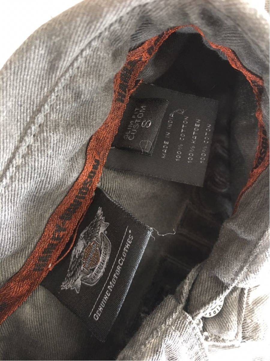スリムフィトS 日本向け商品 ハーレー ダビッドソン HARLEY-DAVIDSON オイル染込み風 シャツ 超COOL アメリカン ライダース ビンテージ加工_画像4