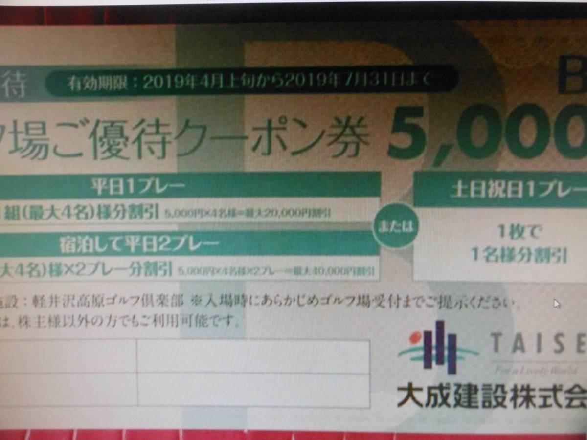 ★軽井沢高原ゴルフ株主優待五千円B券★