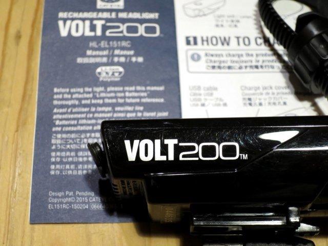 ★CAT EYE キャットアイ VOLT200; USB充電 自転車用ライト フロントヘッドライト 100円スタート_画像7