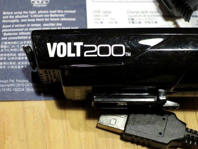 ★CAT EYE キャットアイ VOLT200; USB充電 自転車用ライト フロントヘッドライト 100円スタート_画像2