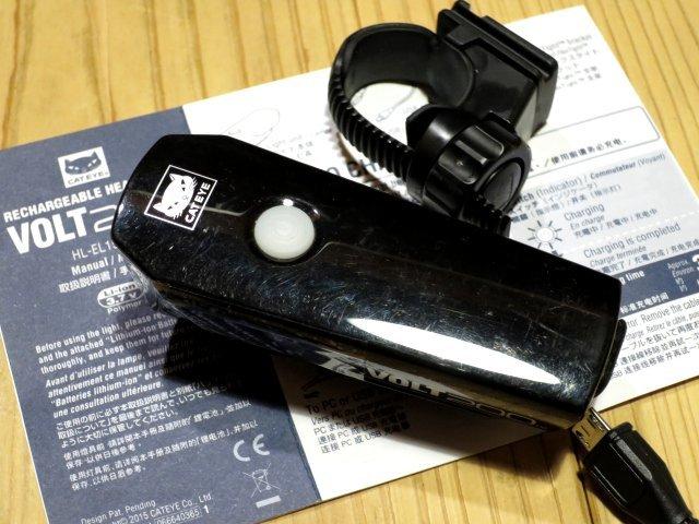 ★CAT EYE キャットアイ VOLT200; USB充電 自転車用ライト フロントヘッドライト 100円スタート_画像5