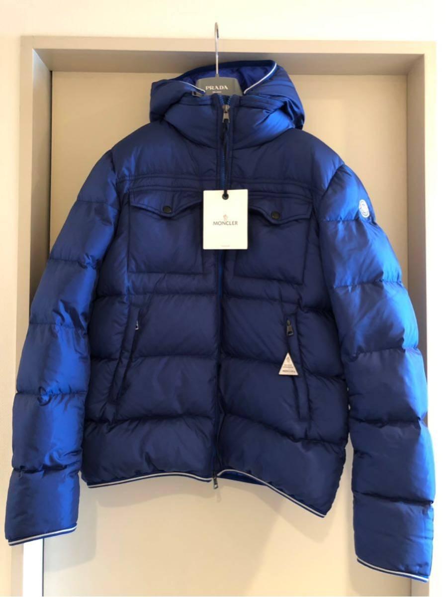 新品 本物 モンクレール MONCLER ジャケット ダウンジャケット サイズ 4 ブルー メンズ ダブルジップアップ パーカー THOMAS 大人気!