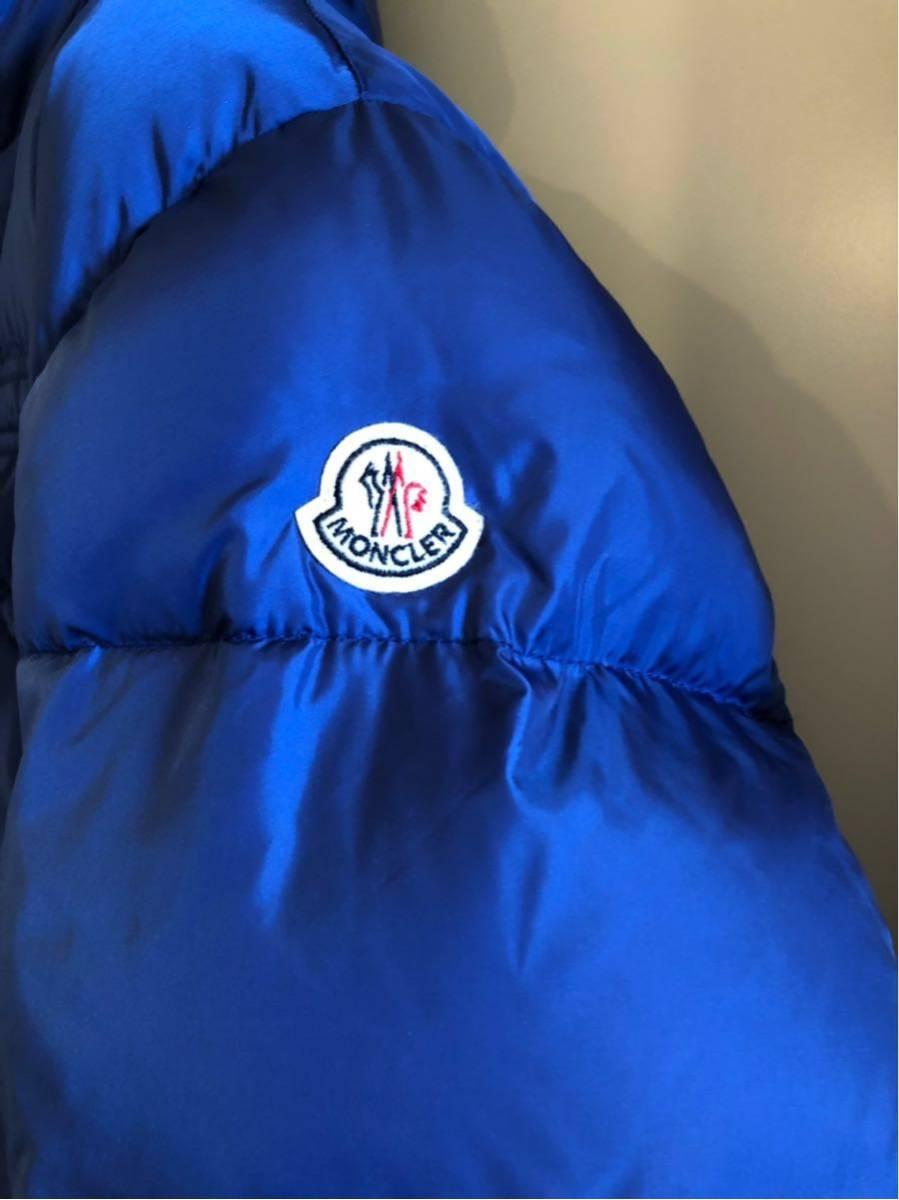 新品 本物 モンクレール MONCLER ジャケット ダウンジャケット サイズ 4 ブルー メンズ ダブルジップアップ パーカー THOMAS 大人気!_画像2