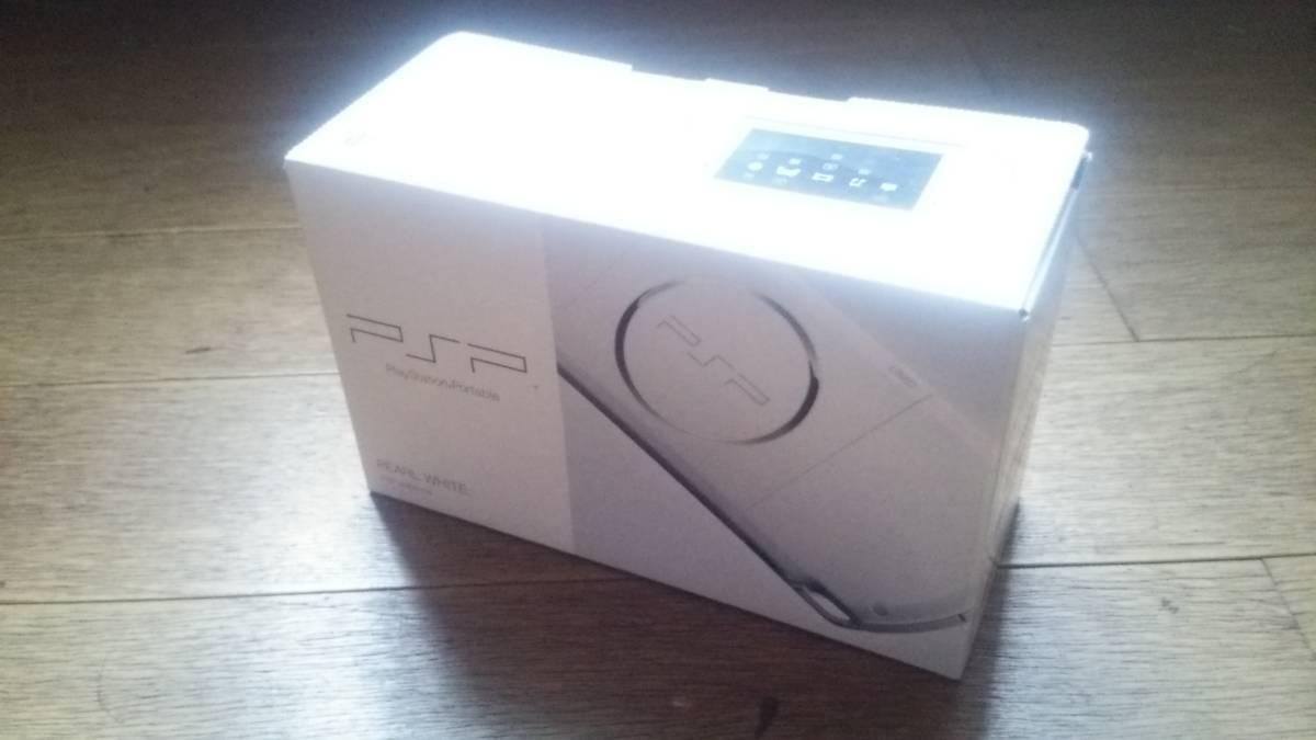 【新品・未使用】PSP‐3000PW プレイステーション・ポータブル・パールホワイト、ワンセグチューナー、メモリースティック付属、