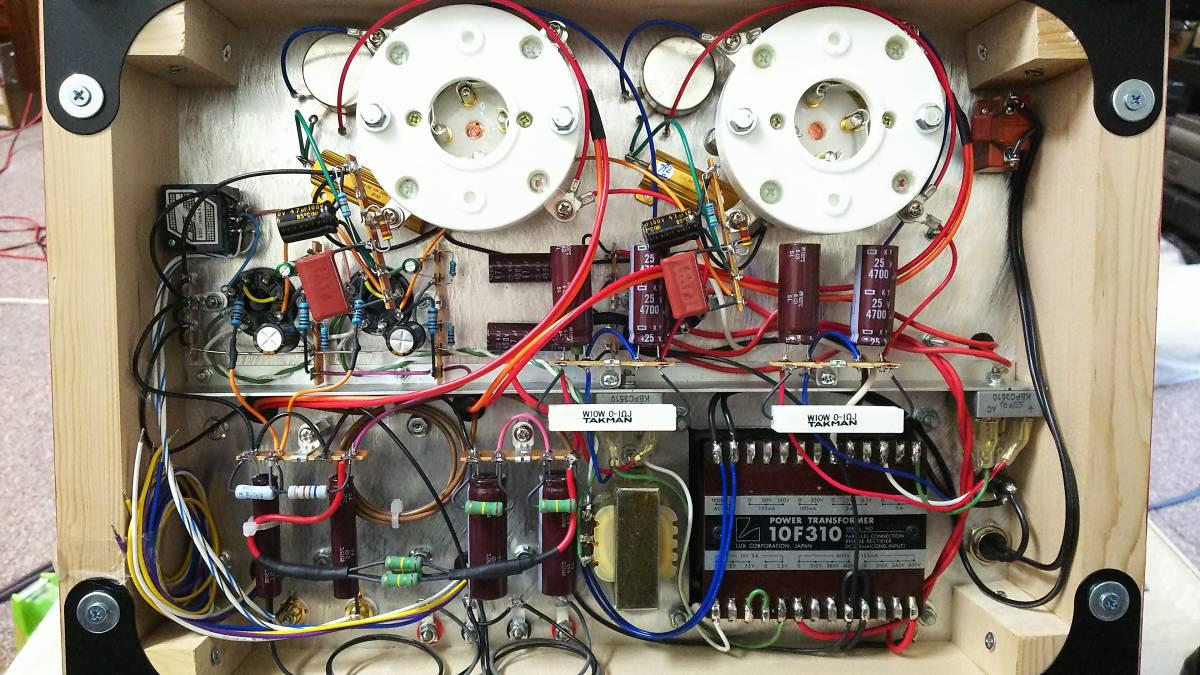 出力管なし 845 シングルアンプ 低電圧動作 ラックス 10F310 サンスイC-5-200 ゼネラル PMF-15WS_画像5