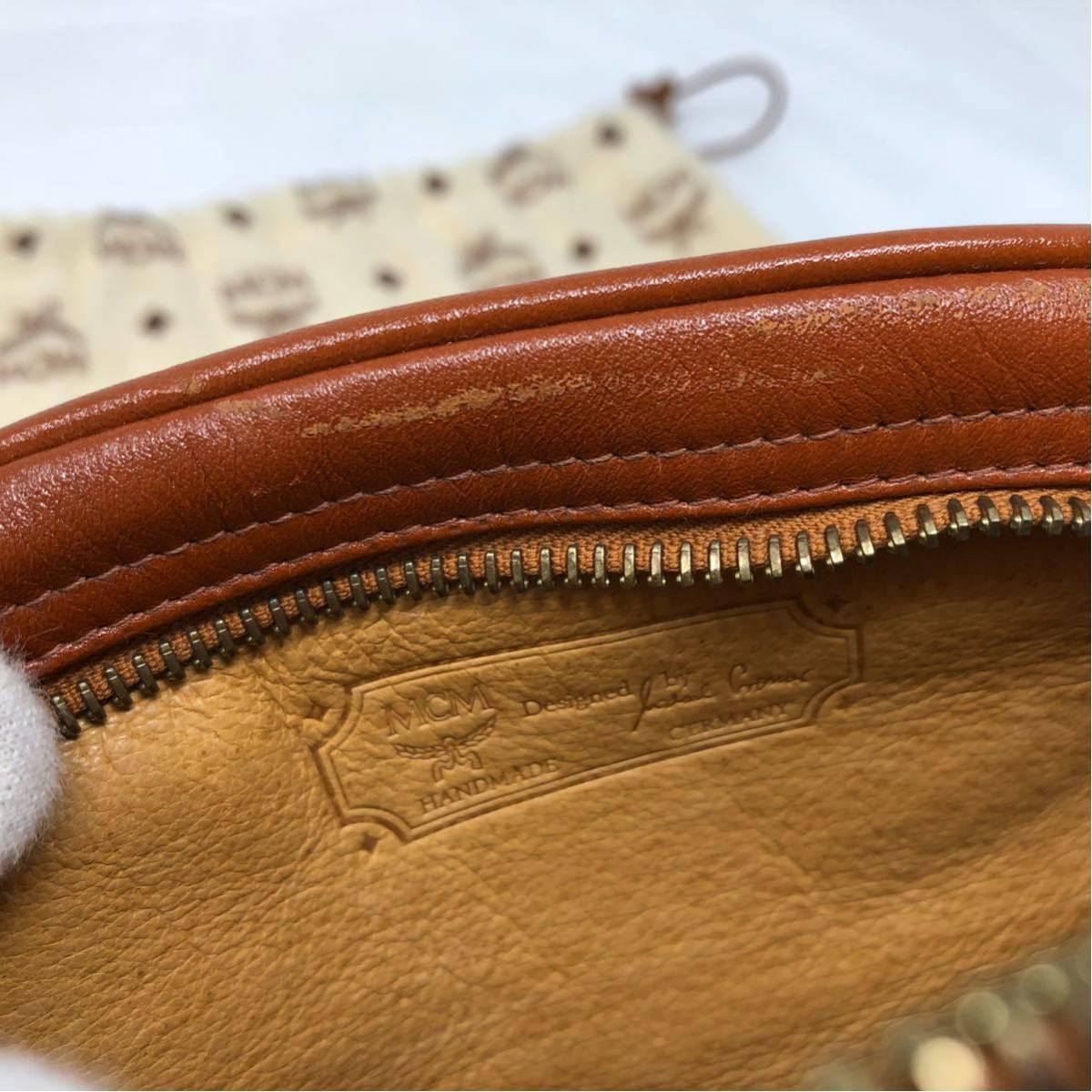 良品 MCM エムシーエム ショルダーバッグ 鞄 レザー 斜めかけ 正規品_画像6