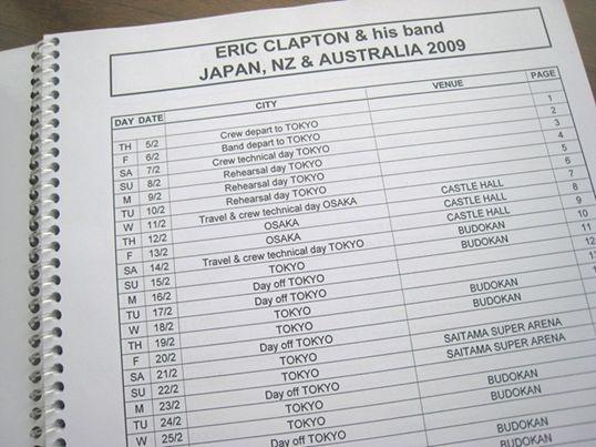 【非売品】エリック・クラプトン『2009年日本公演用ツアーマニュアル』_画像2