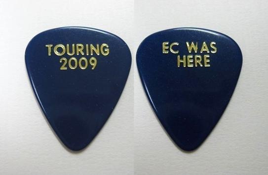 【非売品】エリック・クラプトン / ツアー用ギターピック(2009年日本公演)