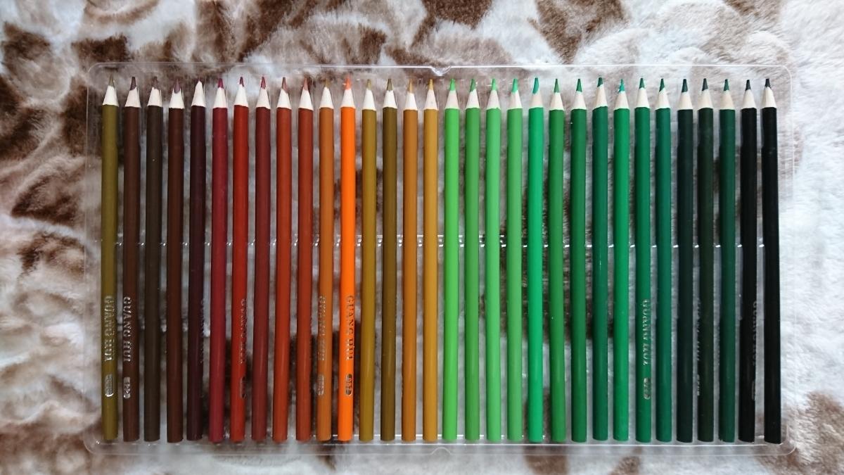 1円スタート☆数本使用済み☆油性色鉛筆160色セット_画像4