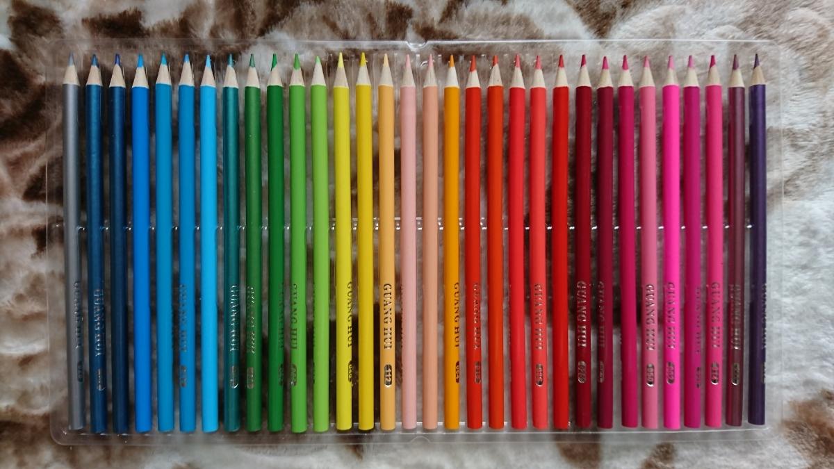 1円スタート☆数本使用済み☆油性色鉛筆160色セット_画像2