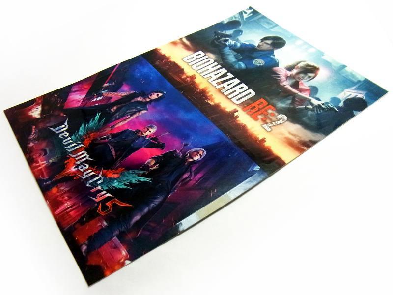 【非売品!】『Devil May Cry5 デビルメイクライ5』&『BIOHAZARD RE:2 バイオハザード2』CAPCOM カプコン 特製ステッカー PS4 DMC_画像2