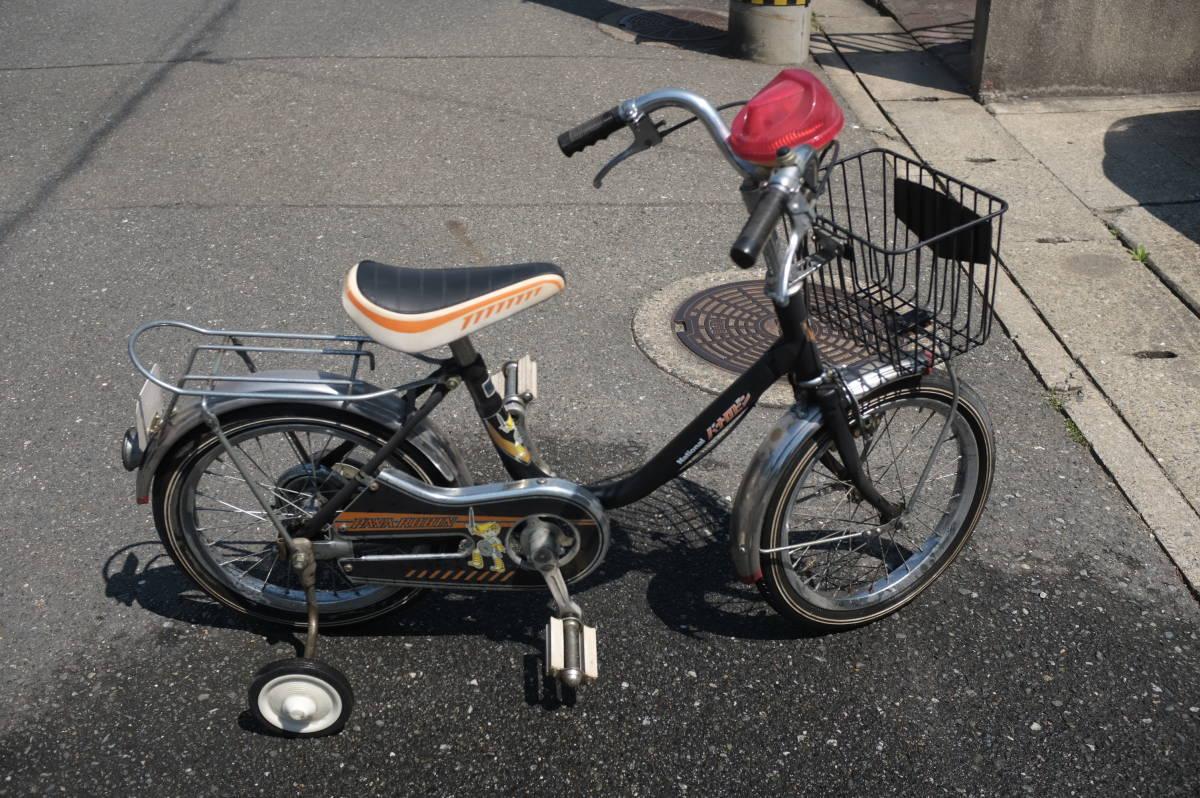 値引き交渉歓迎 希少 ナショナル 16インチ 子供用自転車 パナロビン デコチャリ ビンテージ 昭和レトロ 未使用? 補助輪付き_画像1
