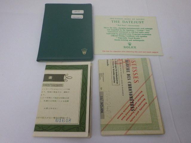 R 025 労力士  ROLEX ロレックス 激レア 1603 日本語保証書付 BOX 箱_画像5