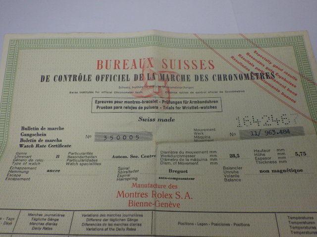 R 025 労力士  ROLEX ロレックス 激レア 1603 日本語保証書付 BOX 箱_画像8