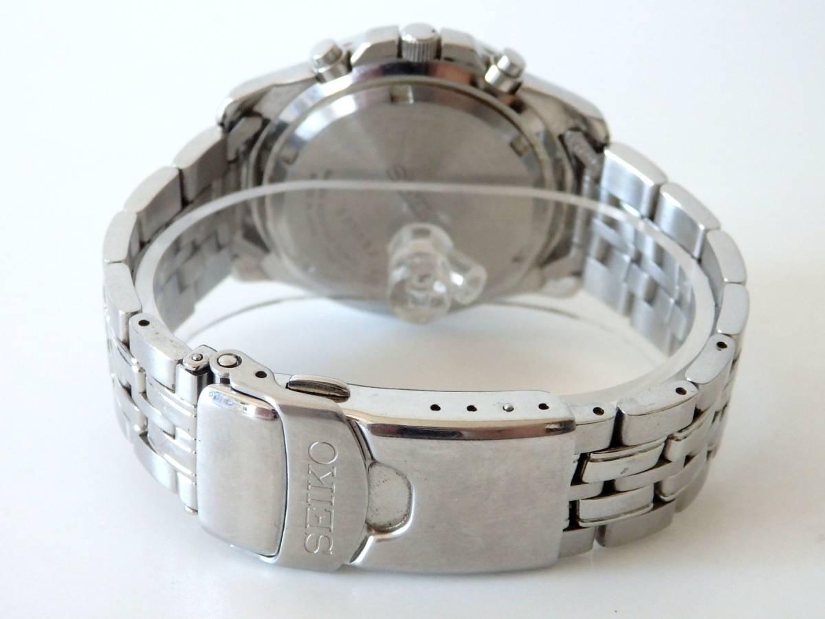 <本物 SEIKO セイコー 腕時計 クロノグラフ 7T62-0DT0 稼働品 電池交換済み>1.82.10 ☆定形外発送OK☆ 290円_画像3