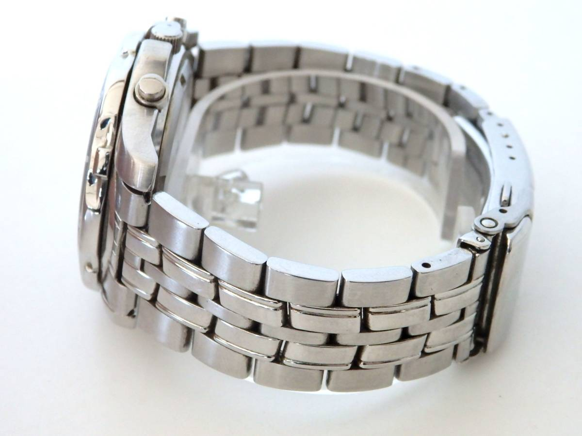 <本物 SEIKO セイコー 腕時計 クロノグラフ 7T62-0DT0 稼働品 電池交換済み>1.82.10 ☆定形外発送OK☆ 290円_画像4
